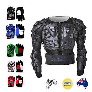 Kid-Glove-amp-Boy-Girl-BODY-ARMOUR-for-Motorcycle-Motocross-Bike-Cycling-Dirt-Bike