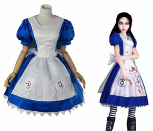 New-Alice-Madness-Returns-Alice-unfrom-cosplay-party-costume-dress