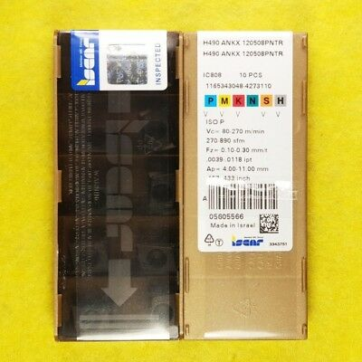 Iscar H490 ANKX 120508PNTR IC808; 10 inserts//box