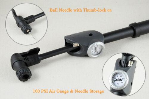 New Ball Pump with Gauge /& Hose /& Needle All Sports Baseball Football Soccer