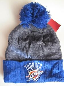d3c31c04211 Image is loading OKC-Oklahoma-City-Thunder-Winter-Beanie-NBA-Gray-