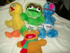 Details About Vintage Sesame Street Plush Big Bird Oscar The Grouch Grover Baby Fozzie