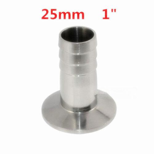 """1.5/"""" 25mm 1/"""" Tri Clamp Para Manguera Adaptador Conector virola de acero inoxidable"""