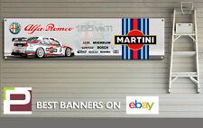 MARTINI RACING ALFA ROMEO 155 BTTC Logo banner per Officina, Garage, Man Grotta,