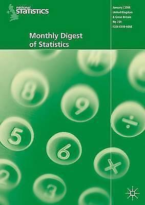 Monthly Digest of Statistics Vol 741, September 2007 (v. 741) by NA, NA