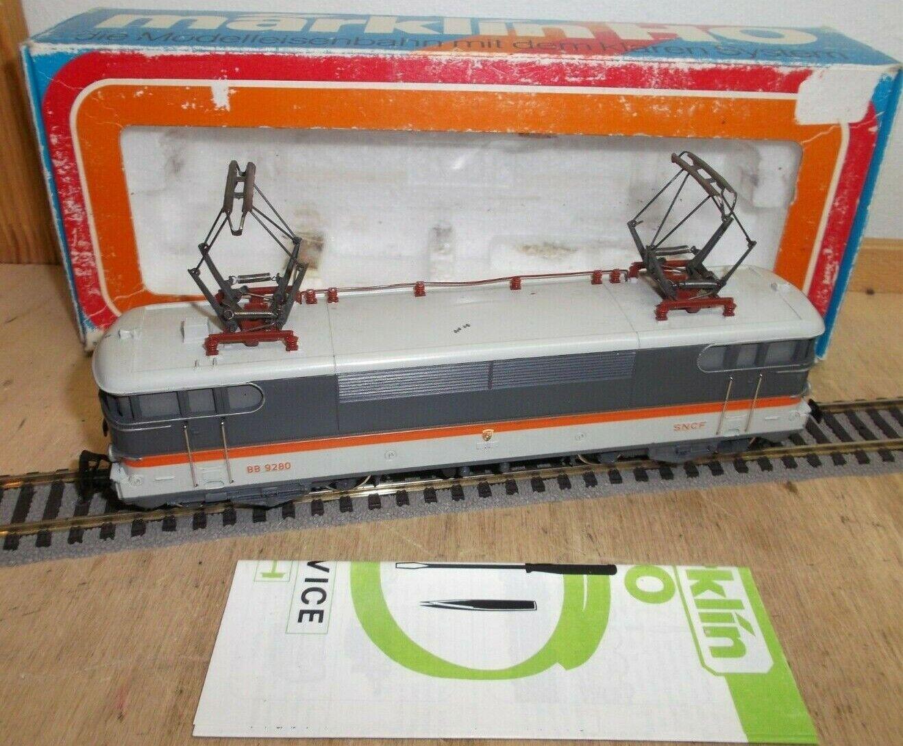 Digital Märklin H0 3165 Electric Locomotive Br Bb 9280   Corail   SNCF Metal