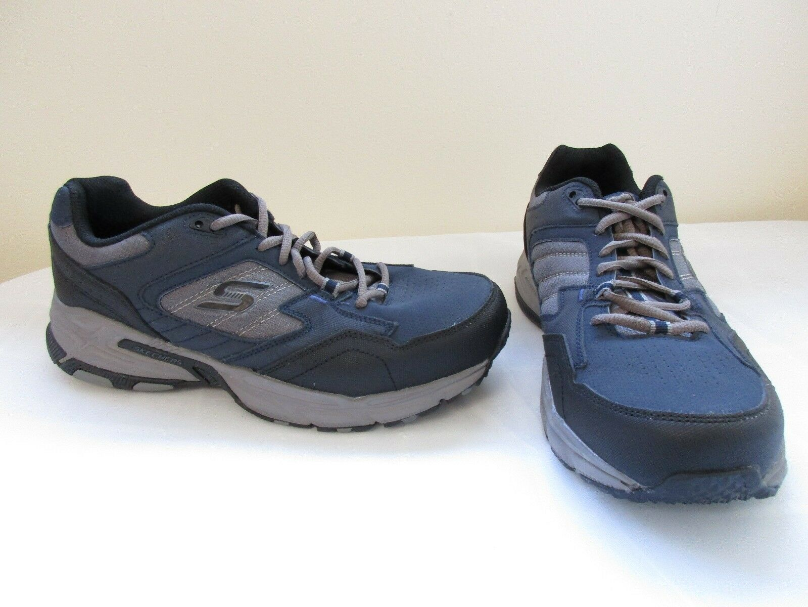 New! Men's Skechers Stamina Plus Training Athletic Shoes 50959EW Navy/Grey 9F Cheap and beautiful fashion