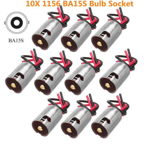 10pcs 1156 Ba15s LED Back Light Bulb Connector Socket Harness Adapters Connector