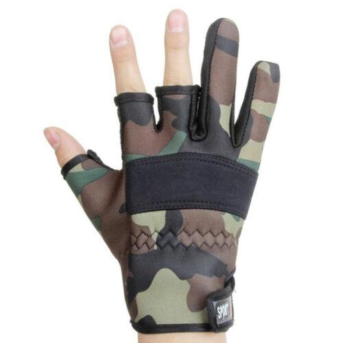 Männer Angeln Handschuhe Außen Rutschfeste Angeln Schutz Handschuhe Drei A2Q3 1X