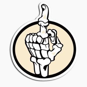 2x-Knochen-Hand-Aufkleber-Sticker-Fuck-You-Stinkefinger-Mittelfinger-Skelett