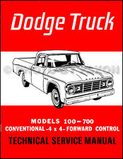 1965 Dodge Truck Shop Manual Pickup Power Wagon Panel D W 100-700 Repair Service