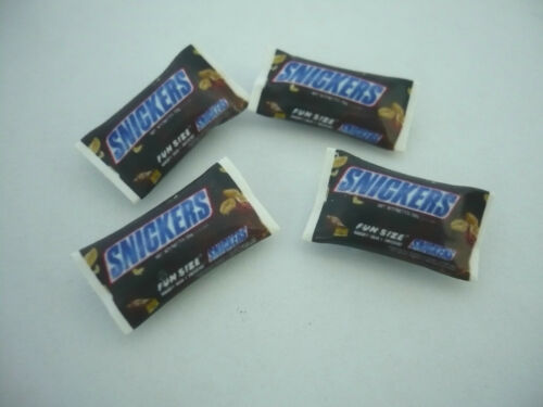 Dollhouse Miniature Packet of Snickers Milk Chocolate set of 4
