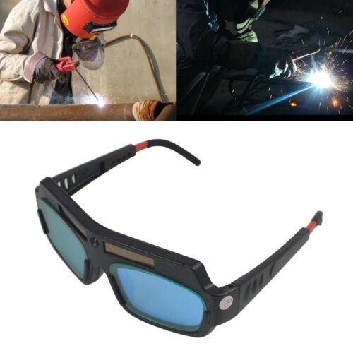 Solar Powered Auto Darkening Welding Goggles PC Lens 5//10000s