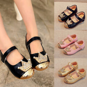 New-Summer-Baby-Girls-Sandals-Crown-Sequin-Toddler-Kids-Party-Wedding-Flat-Shoes