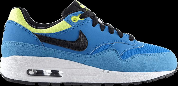 Femmes Nike Air Max 1 One GS Neuf Gr: 36 Sneaker Vintage Bleu 90 95 97 Bleu- Chaussures de sport pour hommes et femmes