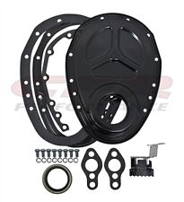 2 pc CHEVY SMALL BLOCK 283-305-327-350-400 STEEL TIMING CHAIN COVER 2 piece