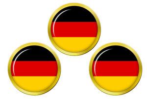 Allemagne-Drapeau-Marqueurs-de-Balles-de-Golf