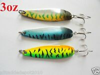 3oz Casting Crocodile Spoons 3 Pieces Saltwater Fishing Lures 3 Colors