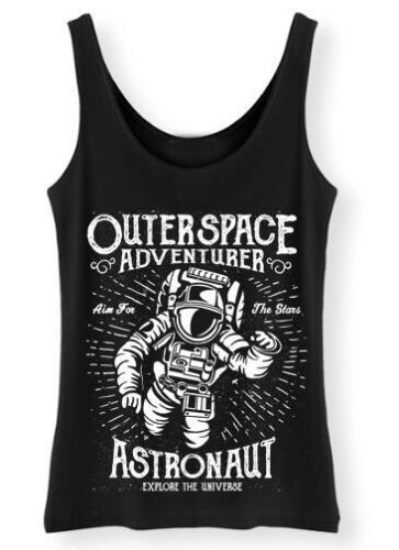Astronaut Tank Top Womens Vest Funny fallout Motivational Outerspace Adventurer