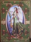 HANDMADE PAGAN FANTASY SEASONS GREETINGS CHRISTMAS CARD A ANGEL IN GREEN DESIGN
