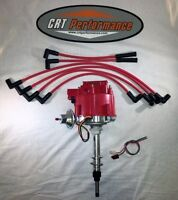 Chevy Inline 6 Straight 6 194-230-250-292 Hei Distributor + Red Spark Plug Wires