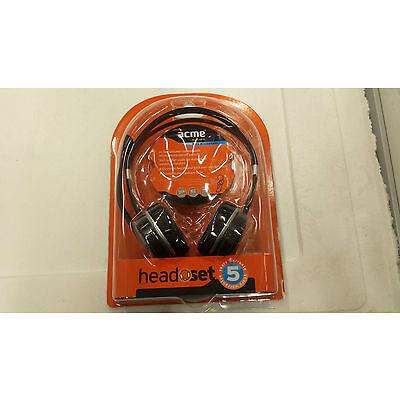 Acme Auriculares auriculares con micrófono & Control De Volumen Modelo HM-03