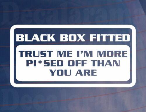 Autocollant voiture boite noire ajustée je suis plus Pi SED que vous fenêtre pare-chocs Porte