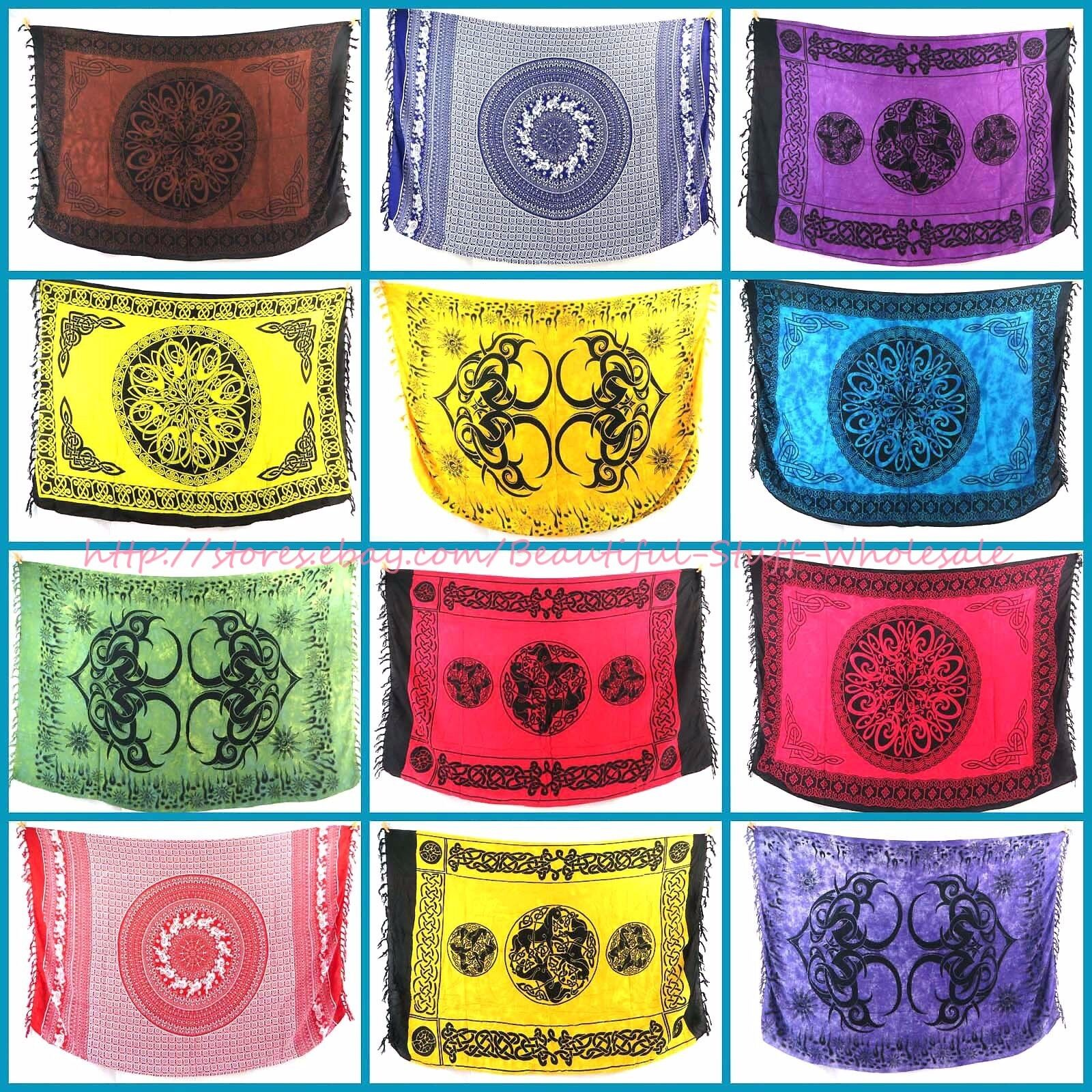 10pcs celtic mandala sarong unity harmony altar cloth beachwear garment Swimwear