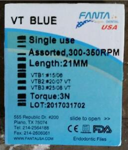 Dental-Endo-Rotary-VT-Blue-NiTi-Files-21-mm-Beat-Vortex-Root-Canal-USA