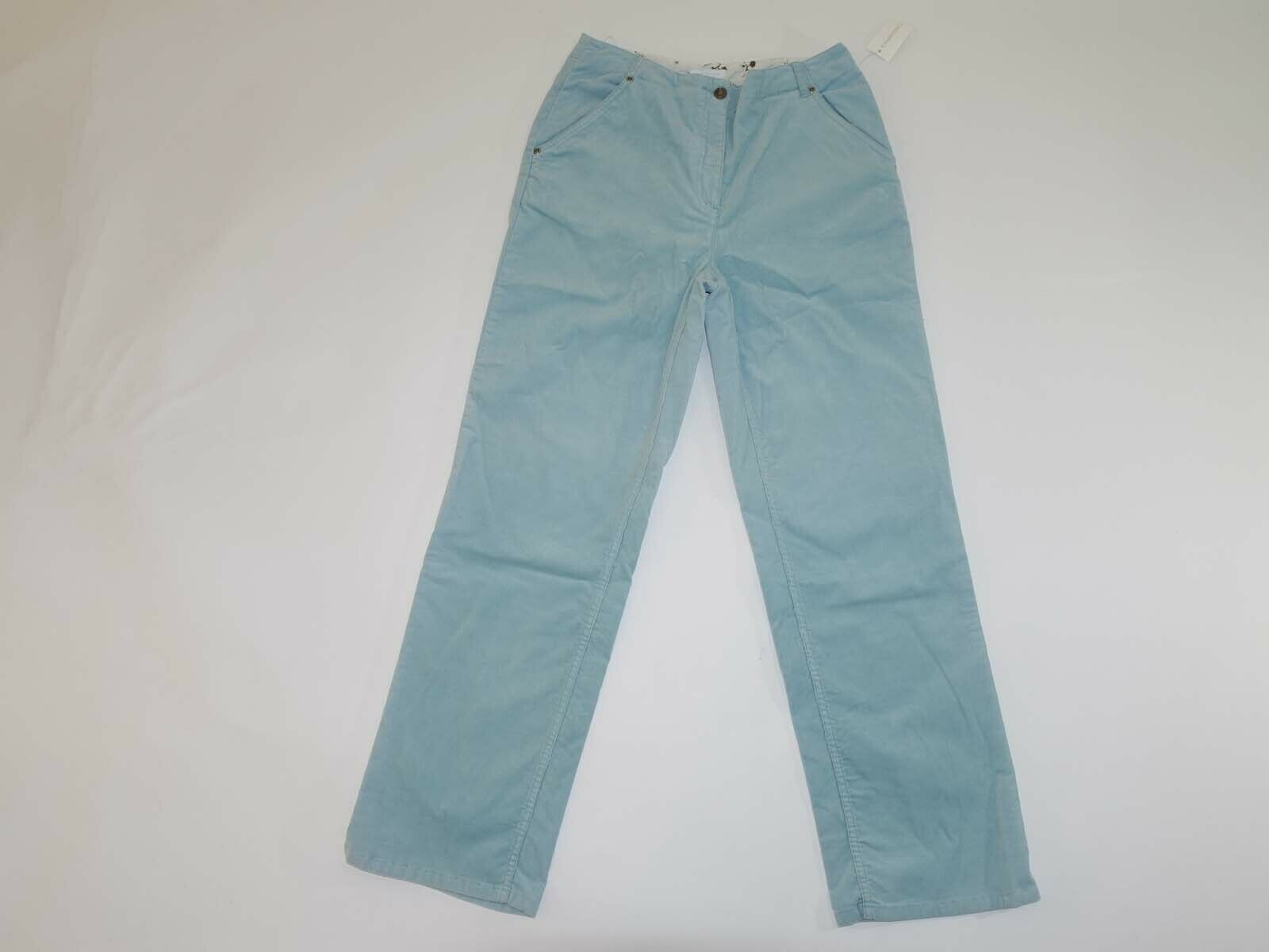 Charter Club Women's Corduroy Pants Size 10 x 31 NWT High Rise Crystal bluee 10R