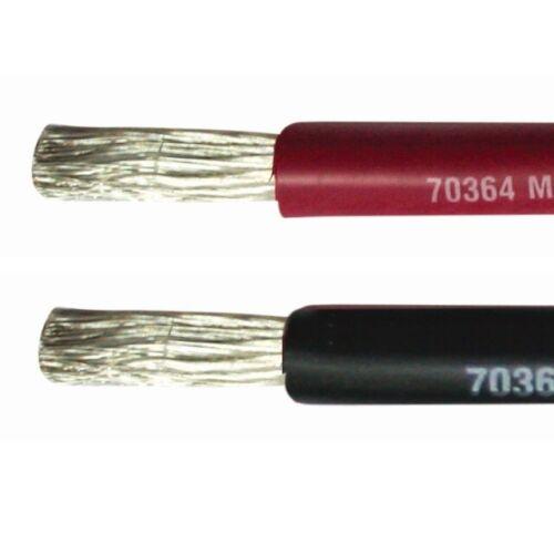 16mm² Marine Kabel einadrig verzinnt Stromkabel schwarz rot