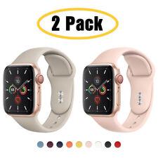 2 упаковка силиконовые спортивные ремешок iWatch ремень для Apple Watch 6 5 4 3 Se 38/42/40/44mm