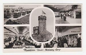 Rppc Middleton Tower Holiday Camp 5 Views Morecambe Used 1950s Ebay