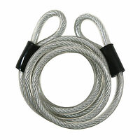 Bike Cable Lock Double Loop High Security 6 Foot Vinyl Covered on sale