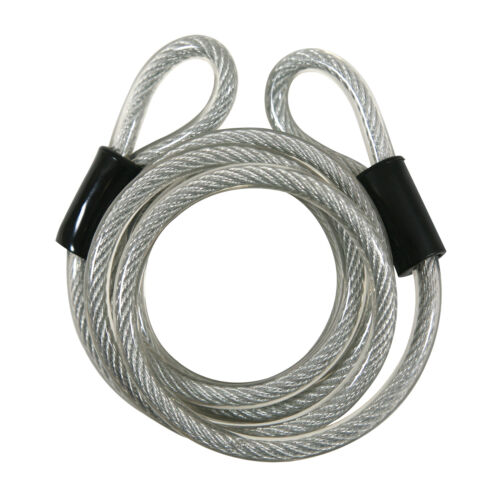 Bike Cable Lock Double Loop High Security 6 Foot Vinyl Covered