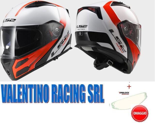CASCO MODULARE MOTO LS2 FF324 METRO RAPID WHITE RED BIANCO ROSSO TG L 59/60