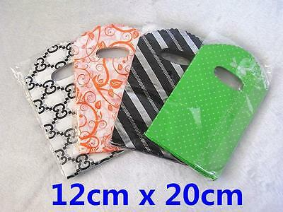 2x85pcs Reliable Plastic Carry Bag Shopping Stall Market Party 12x20cm 4 Choose