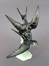 Schwalben Paar, Lomonosov St. Petersburg, Vogel Figur, Höhe 28 cm