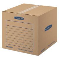 Bankers Box Smoothmove Basic Medium Moving Boxes 18l X 18w X 16h Kraft/blue 20 on sale