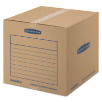 Bankers Box Smoothmove Basic Medium Moving Boxes 18l X 18w X 16h Kraft/blue 20 on sale