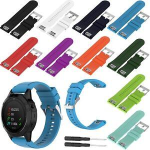 Silicona-Pulsera-Correa-Banda-para-Garmin-Fenix-3-HR-Sapphire-GPS-Watch-26mm