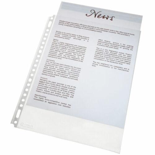 500 Stück Esselte Prospekthüllen DIN A4 56415 Standard genarbt