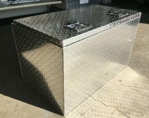 "30/""L Aluminium Trailer Box Tool Storage Horse Boat RV Truck ATV Towing Diamond P"