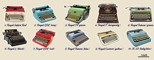 Typewriter Stickers- single stickers (polyester material)