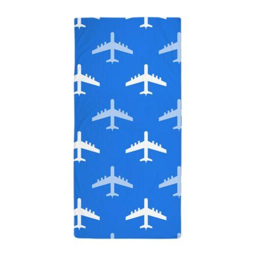 CafePress Sky Blue And White Airplane; Plane Beach Towel 1326309874