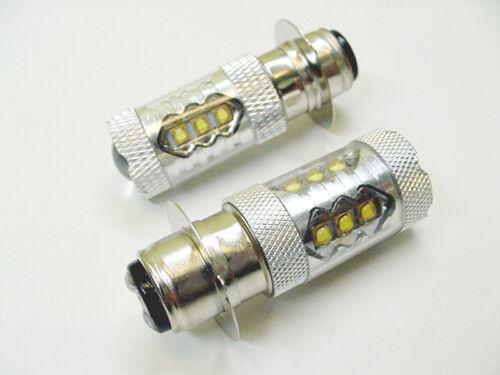 Fits Suzuki Super White 80W LED Headlight Bulbs 95 96 97 98 99 LT-F250 LT-500F