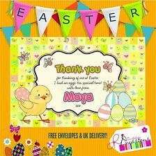 Easter gift thank you notes 5 x personalised prints with envelopes easter gift thank you notes 5 x personalised prints with envelopes negle Images