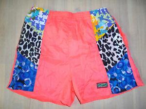 80er-true-vintage-Nylon-shorts-KORE-KORE-OFF-SHORE-pants-80s-oldschool-neon-M