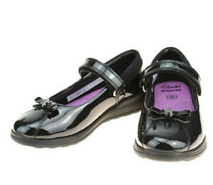 Girls Gloforms By Clarks Leather School Shoes *Mariel Wish Inf*