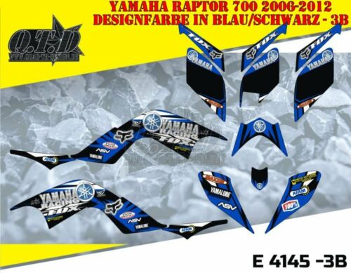 Motostyle-MX decoración ATV Yamaha Raptor 700 Graphic kit yamaha racing fox e4145 B
